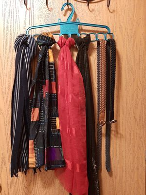 Scarves and closet organizer (hanger), OBO for Sale in Junction City, KS