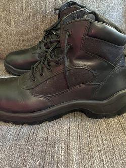 Men's Worx Red Wing #6266 Work Boots Slip Oil Resistant Blk Leather Sz 12. Zipper side Steel toe for Sale in Los Angeles,  CA