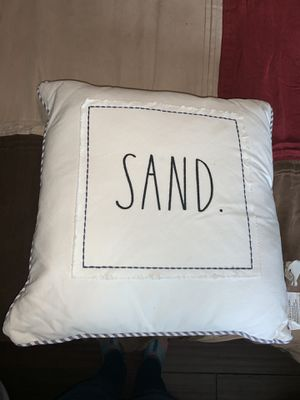 2 New Rae Dunn pillows $25/each for Sale in Lynnwood, WA