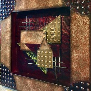 Beautiful modern abstract metal art, wall accent H24xW24xD2.5 inch for Sale in Chandler, AZ
