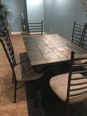 Slate Dining table +coffee table +end table for Sale in Dearborn Heights, MI