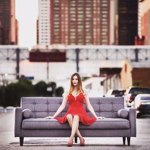 Midinmod brand sleeper sofa mid century modern for Sale in Houston, TX