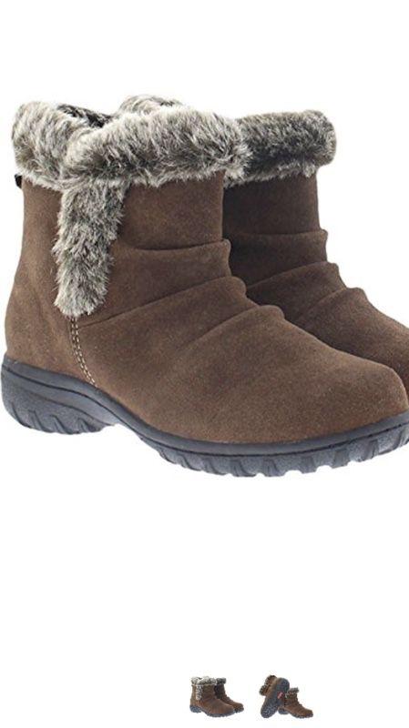 Women's faux fur boots