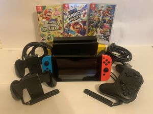 Nintendo Switch console set with extra controller and games for Sale in Belleville, MI