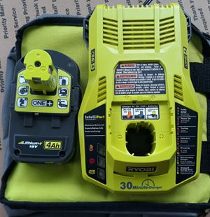 Ryobi 18 volt 4 amp battery and charger for Sale in Clemson, SC