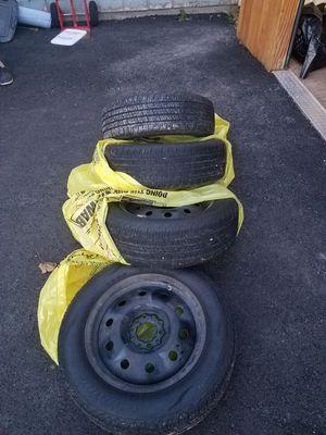 TIRES,4 Les Schwab tires on rims, 205/60/R16, fits 2015 Kia Soul for Sale in Missoula, MT