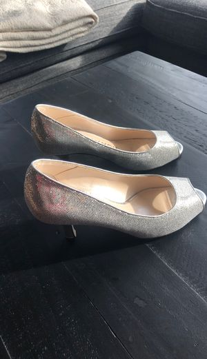 Size 6 Caparros silver sparkly heels for Sale in Seattle, WA