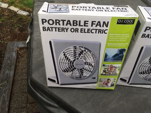 Portable fans batteries or plug in price lowered for Sale in Monson, MA