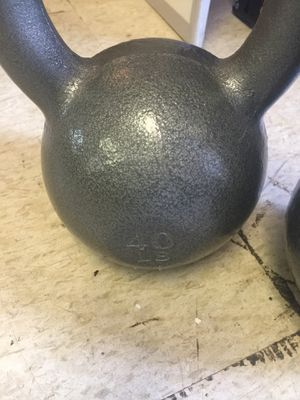 New: CAP Barbell Cast Iron Kettlebell, Grey: for Sale in Greenville, MS