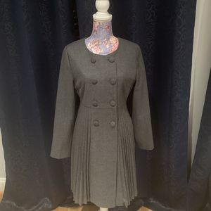 NWOT Darling Wool Top Coat Pleated Dark Grey Jacket/Coat -Size M for Sale in Alexandria, VA
