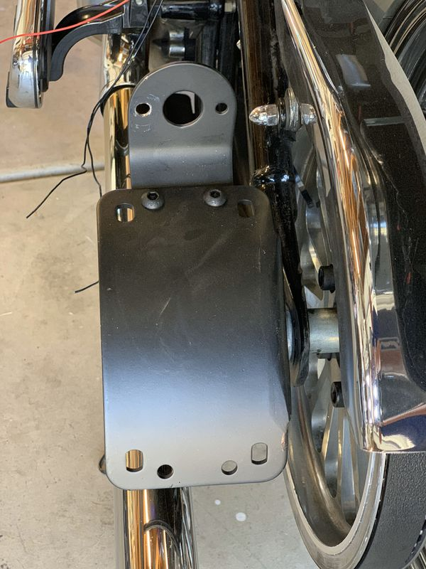 Motorcycle side mount for license plate new HD
