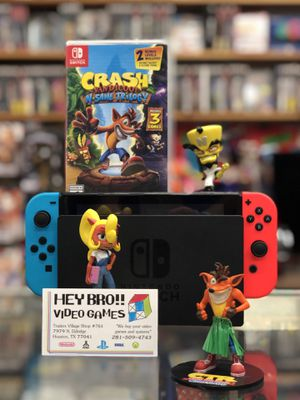 Nintendo Switch and Crash Bandicoot Trilogy- Layaway Available for Sale in Houston, TX