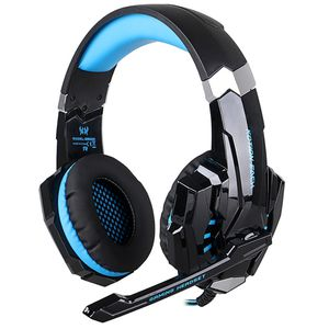 KOTION Each G9000 Headset 3.5mm Game Gaming Headphone Earphone with Microphone LED Light for Laptop Tablet Mobile Phones PS4 - Black + Blue for Sale in Atlanta, GA