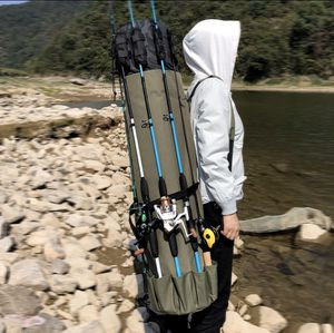 Fishing Bag Portable Multifunction Nylon Fishing Bags Fishing Rod Bag Case Fishing Tackle Tools Storage Bag for Sale in Pleasantville, NY