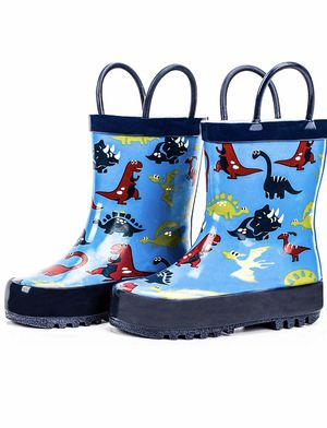 Brand New Rain Boots Toddler Childrens Waterproof Rubber Shoes...Rain Boots Toddler Children's Waterproof Rubber Shoes with Easy-On Handles for Boys for Sale in Imperial, MO