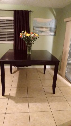 Solid Mahogany high kitchen table for Sale in Apopka, FL
