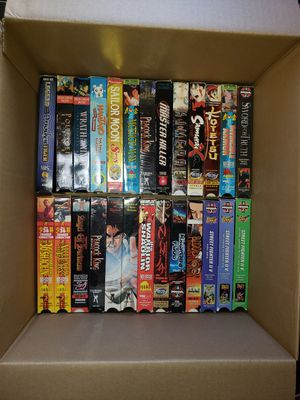 Lot of 65 VHS anime, kung fu, Sailor Moon, Pokemon for Sale in El Cajon, CA