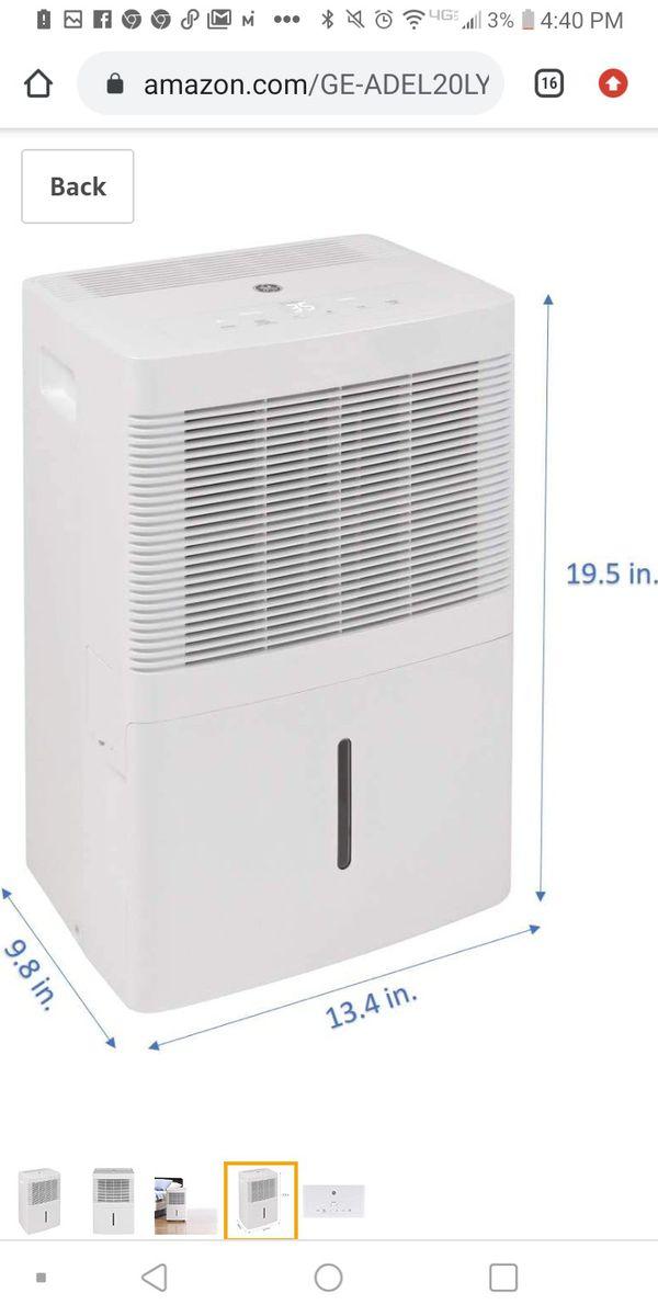 GE dehumidifier 20 pints