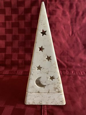 Partylite 2pc Pyramid Galaxy Tea Light Candle Holder Moon & Stars for Sale in Whittier, CA