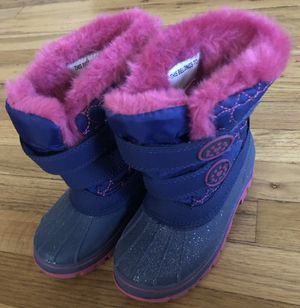 THERMOLITE TODDLER GIRLS 9/10 SNOW BOOTS PINK/PURPLE *EXCELLENT CONDITION for Sale in Salt Lake City, UT