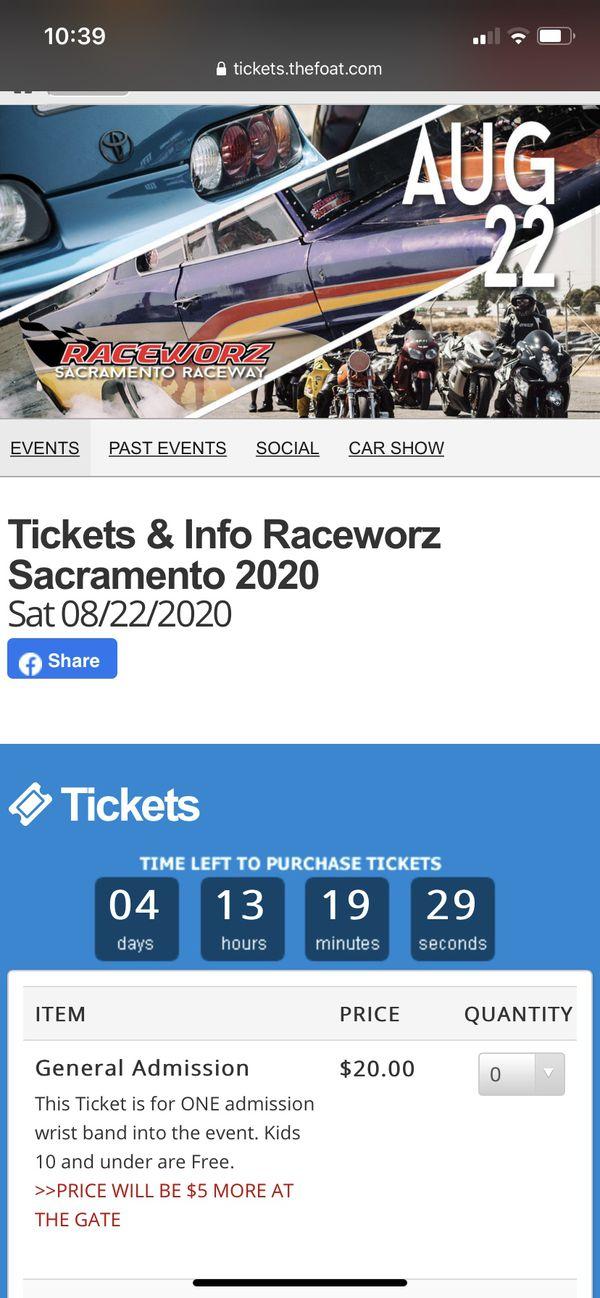 Raceworz tickets