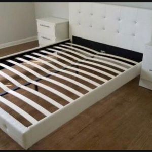 New Queen Platform Bed Frame With 2 Night Stands. Mattress Is Not Included for Sale in Atlanta, GA