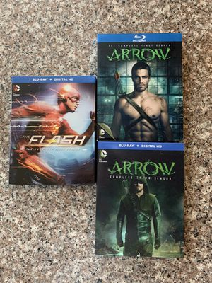 CW Arrow S1 + S2 & The Flash S1 Blu Ray for Sale in Monroe Township, NJ