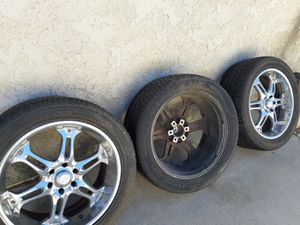 3 rims with tires for Sale in Fontana, CA