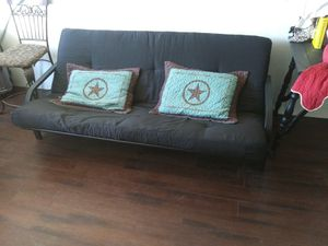 Futon bed with full size futon mattress shown. for Sale in Ada, OK