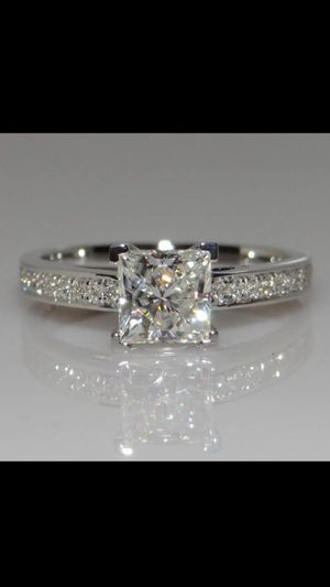 .72ct stimulates diamond gold plated wedding engagement ring women's jewelry accessory size 8.5 for Sale in Silver Spring, MD