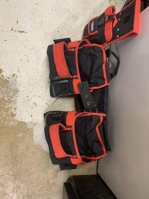 Husky tool belt , plus a drill pouch. Belt has 3 pouches on. for Sale in Reading, PA