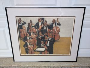"""Jim Yarbrough """"Serenade"""" limited edition etching 32""""x26"""" for Sale in Duluth, GA"""