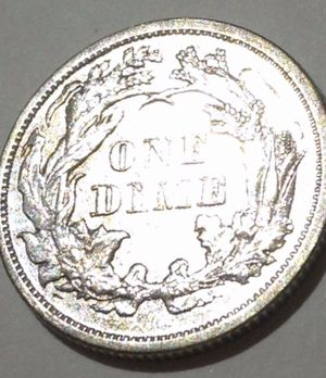 Highly Rare MS66 Mint State 1876 Seated Liberty Dime- Exceptionally Scarce High Grade- White Color W/ Toning- 1,180 Dollar Greysheet Value! for Sale in Fairfax, VA