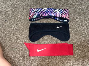 NIKE HEAD BANDS...and SEIRUS HEAD BANDS... PINK VS SCARF AND HAT THAT COME TOGETHER❤️ for Sale in Dallas, TX