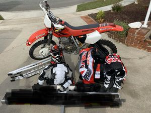 2002 Honda XR400R dirt bike and gear (title in hand) edit* no trades please for Sale in Buena Park, CA