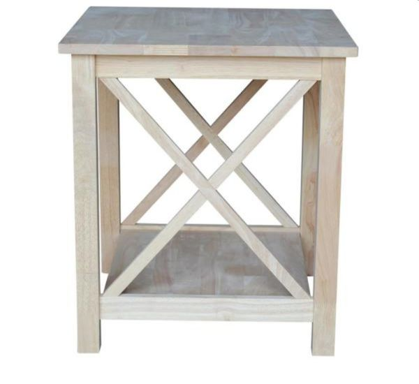 International Concepts Hampton Unfinished End Table