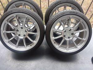 Vendo rines marca AODHAN semi nuevos zaiz 18. 5x114.3 lekedan a Honda acord a nissan altima acura tl toyota camry Honda civis muchos más for Sale in Washington, DC