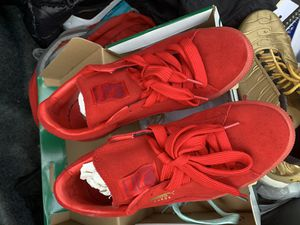Red Puma Suede + Mono iced laces for Sale in Adelphi, MD
