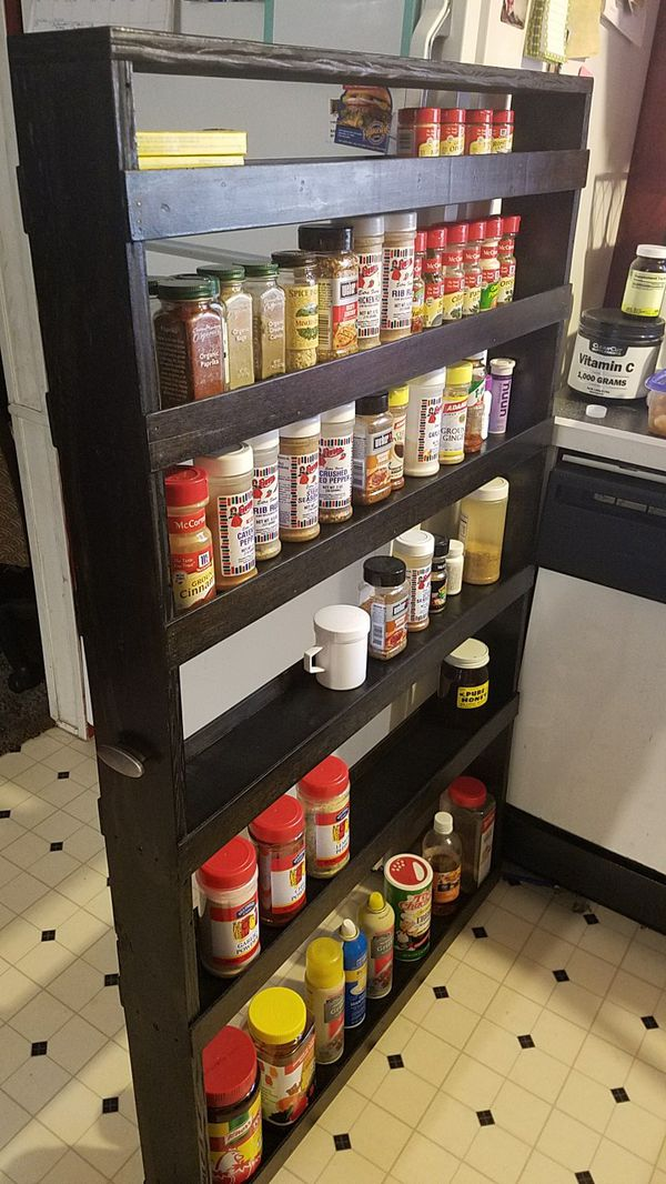 Custom made spice rack