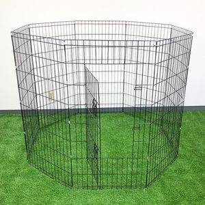 """Brand New $45 Foldable 48"""" Tall x 24"""" Wide x 8-Panel Pet Playpen Dog Crate Metal Fence Exercise Cage for Sale in Whittier, CA"""