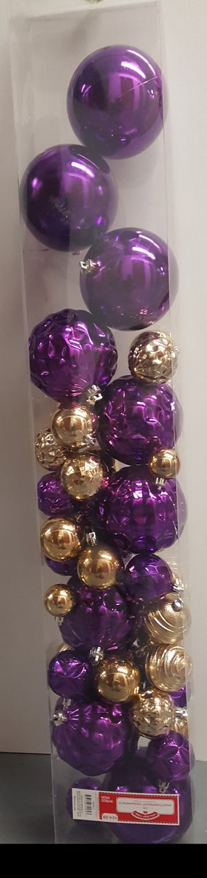 Purple and gold ornaments for Sale in Passaic, NJ