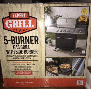 Expert Grill - 5 burner gas grill w/side burner for Sale in Lancaster, PA