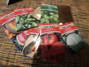 Seeds Vegetable Tomato Cucumber Carrot Basil Watermelon Cantaloupe Peas Cabbage for Sale in O'Fallon, MO