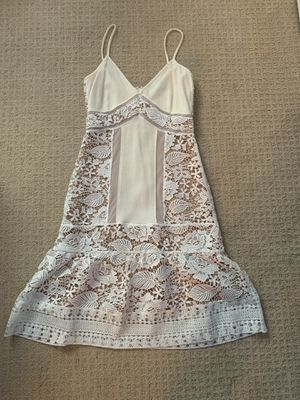 Fitted white Eyelet dress French Connection for Sale in Morristown, NJ