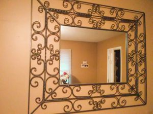 Pier 1 Wrought Iron Wall Mirror for Sale in Nashville, TN