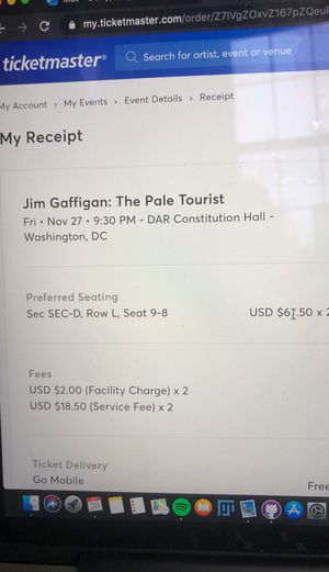 Jim Gaffigan Tickets - Nov. 27 - Preferred Seating for Sale in Rockville, MD
