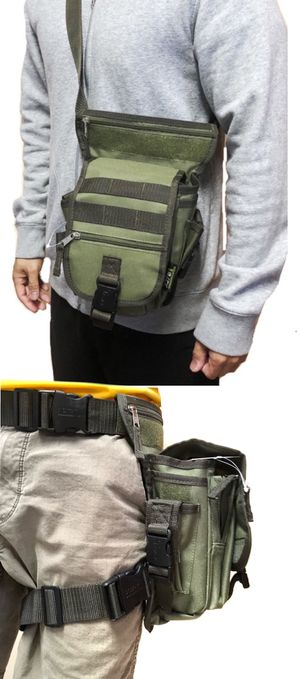 NEW! Military tactical style side bag pouch shoulder bag travel luggage bag camping fishing hiking hunting work bag waist pack leg bag CrossBody Bag for Sale in Carson, CA