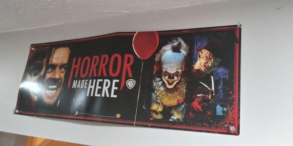 """Horror movie banner 23x8"""""""