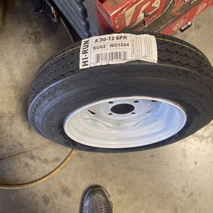 2x Trailer Tires 5.30-12 With 2 Rims Mounted $100 for Sale in San Bernardino, CA