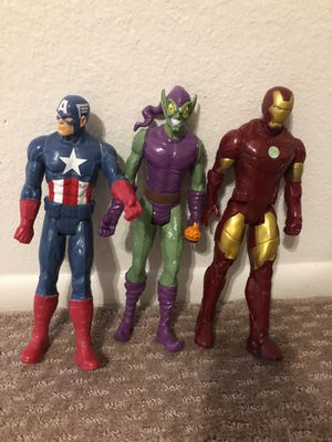 Marvel Figurines, Captain America, Green Goblin, and Iron Man for Sale in Scottsdale, AZ